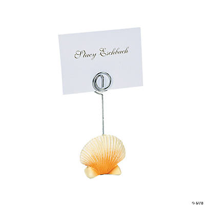 quickview image of sea shell place card holders with sku32780