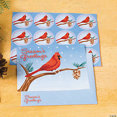 """Season's Greetings"" Cardinal Cards"