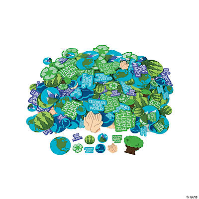 Self-Adhesive Earth Day Shapes
