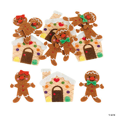 Self-Adhesive Gingerbread Shapes