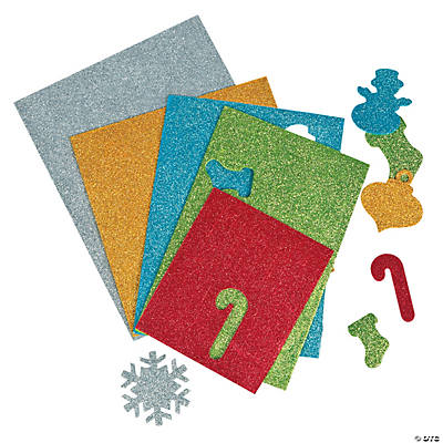 Self-Adhesive Glitter Ornament Shapes