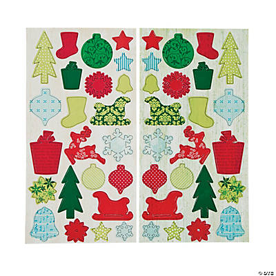 Self-Adhesive Holiday Chipboard Die Cuts