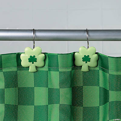 Shamrock Shower Curtain Hooks - Oriental Trading - Discontinued