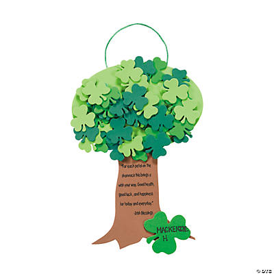 Shamrock Tree Sign Craft Kit