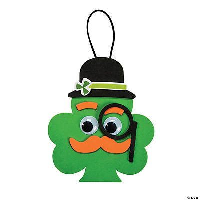 Shamrock with Mustache Ornament Craft Kit