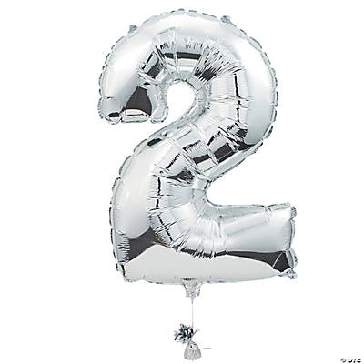 """2"" Shaped Mylar Number Balloon"
