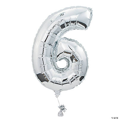 """6"" Shaped Mylar Number Balloon"