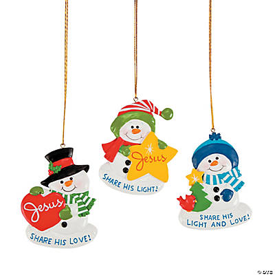 """Share His Light And Love"" Snowman Ornaments"
