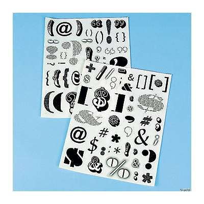 2 Sheets of Punctuation Stickers
