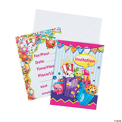 Shopkins™ Invitations