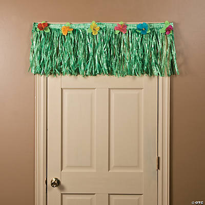 Short Luau Green Grass Doorway Banner