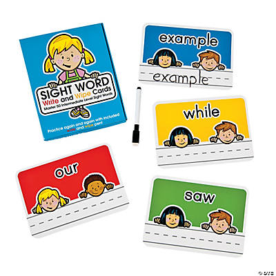 Sight Words Write & Wipe Cards Level 100