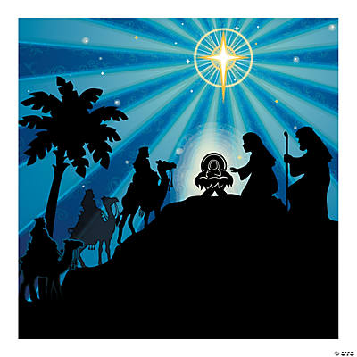 Silhouette Nativity Backdrop