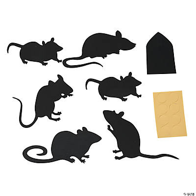 silhouette rat wall decorations - Halloween Wall Decorations