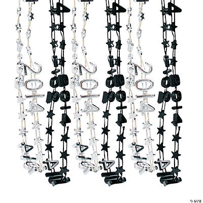 2014 Silver & Black Bead Necklaces