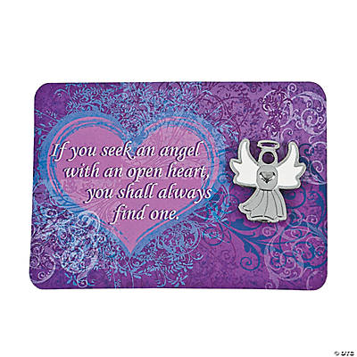 Silver Angel Pins on Card