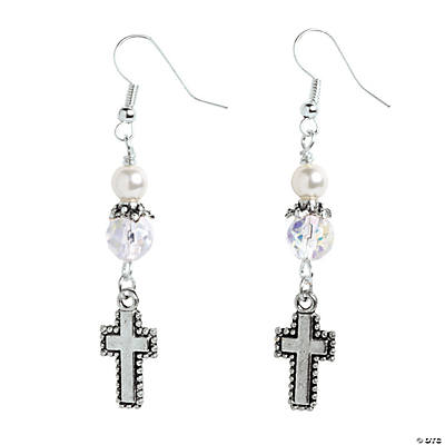 Silver Cross Earrings Kit