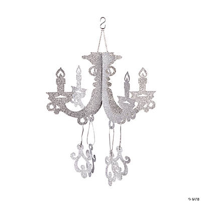 Glitter chandelier silver glitter chandelier mozeypictures Image collections