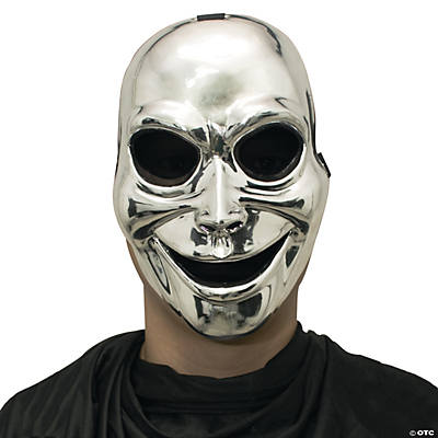 Silver Halloween Sinister Ghost Mask