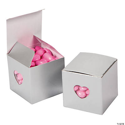 Silver Heart Gift Boxes
