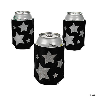 Silver Star Black Can Covers