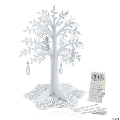 Silver Swirl Wishing Tree Centerpiece