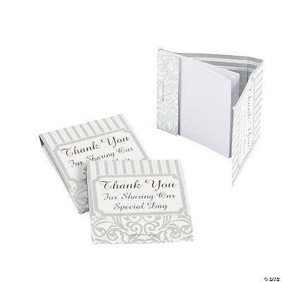 Silver Swirls Matchbook Notepads