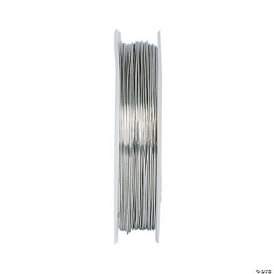 Silver Tone Copper Wire - 05mm