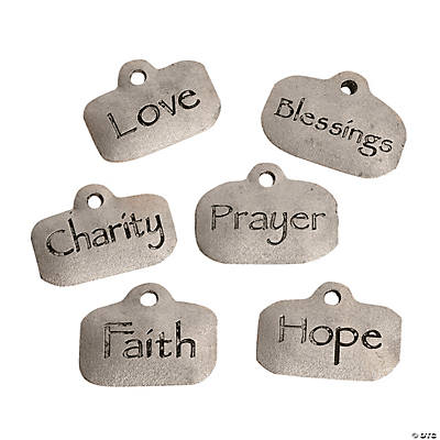 Silvertone Blessed Faith Charms