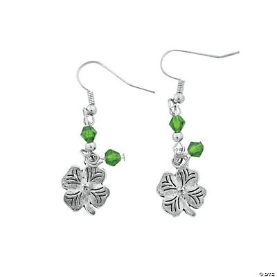 Silvertone Clover Earring Craft Kit