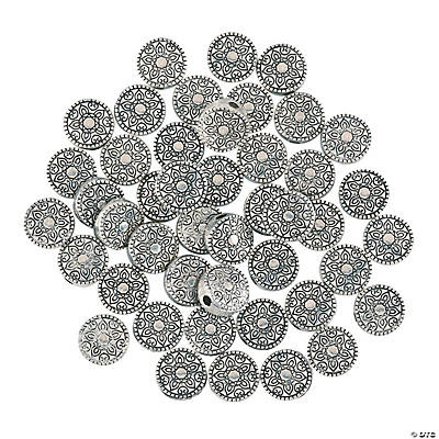 Silvertone Decorative Spacer Beads