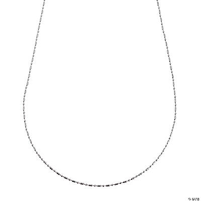 Silvertone Delicate Ball Chain Necklaces
