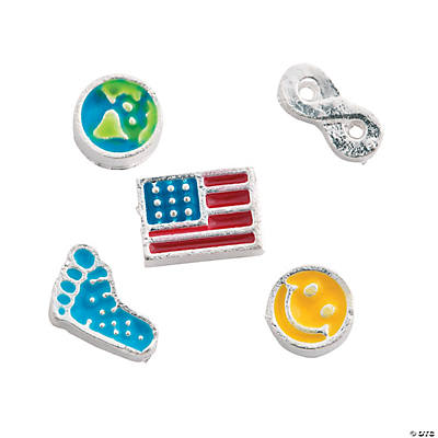 Silvertone Everyday Floating Charm Assortment - 5mm