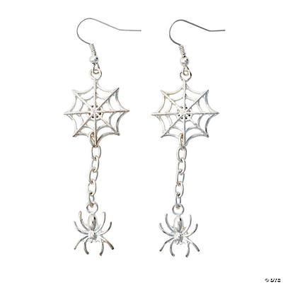 Silvertone Spider & Spider Web Earring Kit