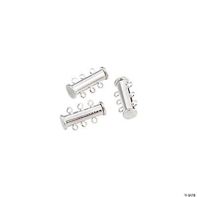 Silvertone Triple Stand Bar Clasps