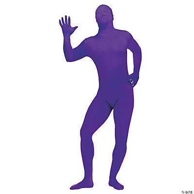 Skin Suit Purple Adult Men's Costume
