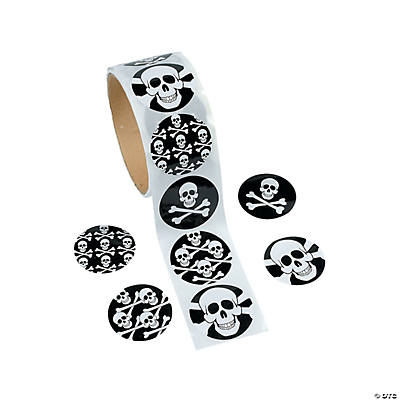 Skull Roll of Stickers