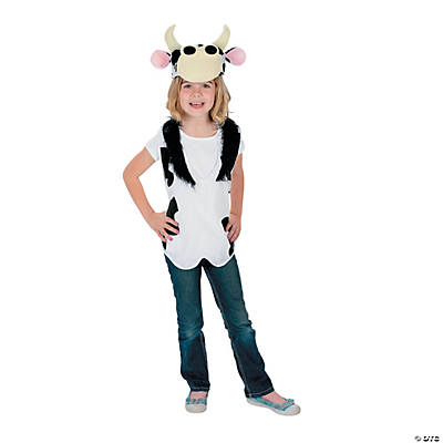 Slip-On Cow Vest & Hat