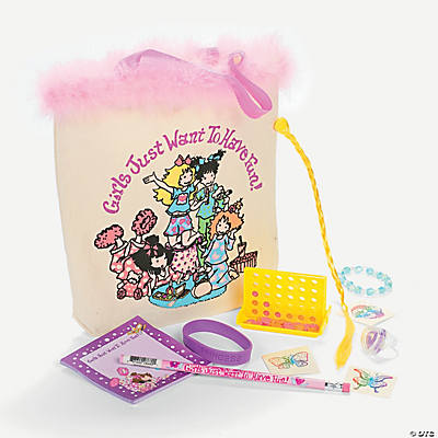 Slumber Party Filled Treat Bags