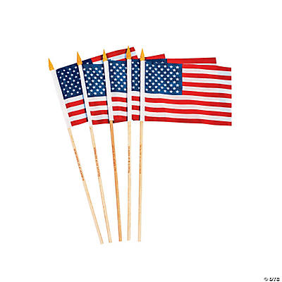 Small Cloth Personalized American Flags
