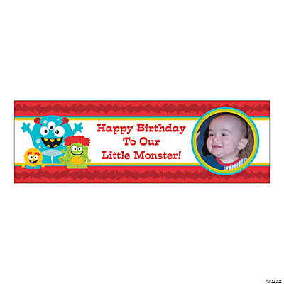 Small Mini Monster Custom Photo Banner