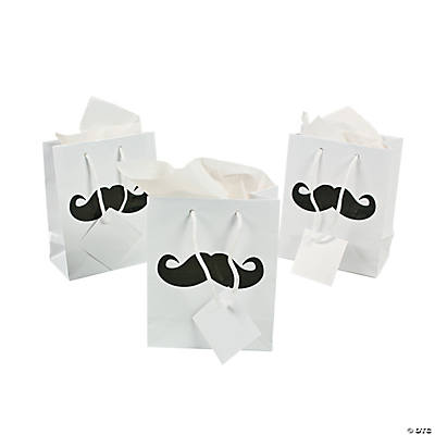 Small Mustache Party Gift Bags
