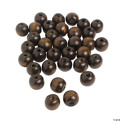 Small Round Wood Beads - 14mm