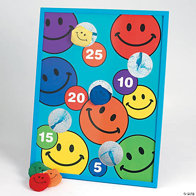 Smile Face Bean Bag Toss Game