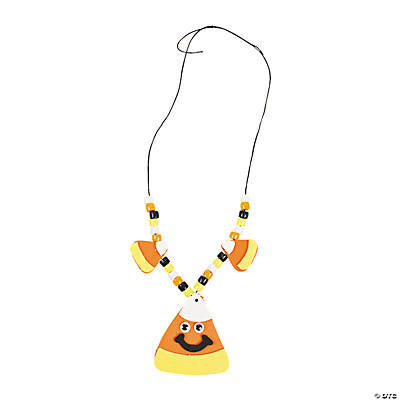 Smile Face Candy Corn Necklace Craft Kit