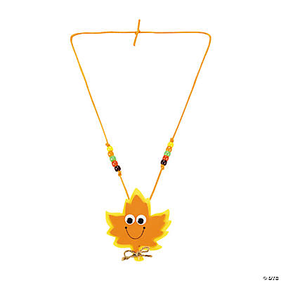Smile Face Leaf Necklace Craft Kit