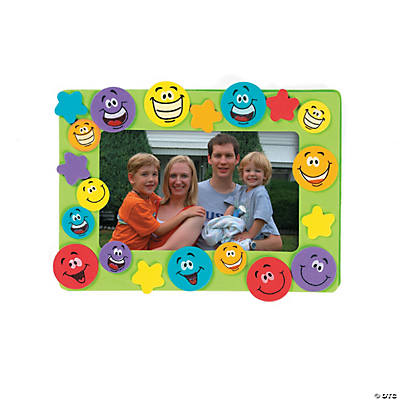 Smile Face Picture Frame Magnet Craft Kit