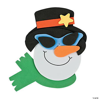 Smile Face Snowman with Sunglasses Magnet Craft Kit