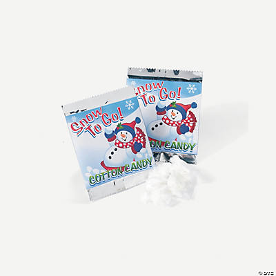 """Snow To Go!"" Cotton Candy Treat Packs"