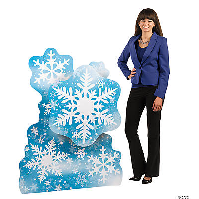 Snowflake Cardboard Stand-Up